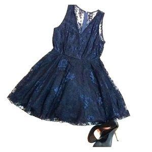 Windsor Navy Blue Lace Dress